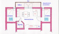 pic of the layout apartment Nr.8 - Appartement Harrer - Zell am See - Kaprun - Austria